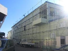 神奈川県愛川町 工業団地の足場工事