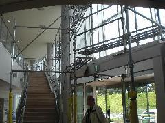 茅ヶ崎市民温水プール内部足場