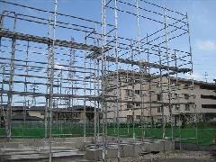 神奈川県相模原市中央区にて新築足場工事