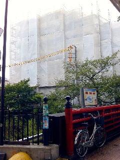 横浜市南区マンション足場工事