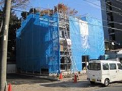 相模原市田名新築工事足場