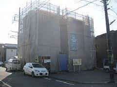 神奈川県相模原市上溝新築3階建て足場工事