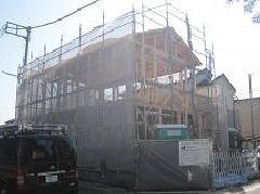 相模原市中央区横山台2階建て新築足場工事
