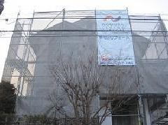 神奈川県大和市つきみ野3階建て塗装改修工事足場施工