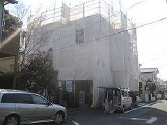 神奈川県大和市下鶴間外壁塗装工事足場施工