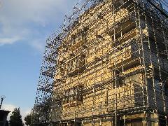 東京都調布市大型改修足場工事施工