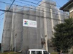 神奈川県相模原市南区古淵マンション足場工事