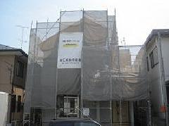 神奈川県相模原市注文住宅塗装改修工事足場施工