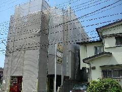 横浜市港南区日野外壁塗装3階RC足場組立