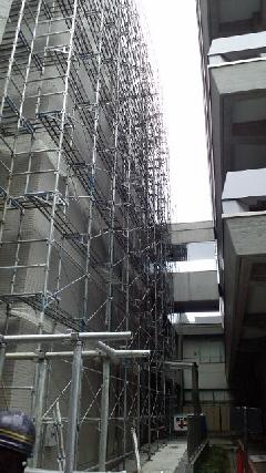 相模原市中央区中央タイル補修塗装足場工事
