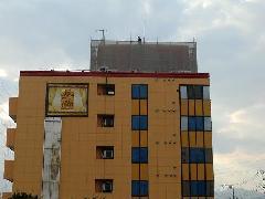 厚木市看板塔修理交換足場工事