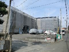 神奈川県藤沢市湘南地区塗装洗浄工事足場施工