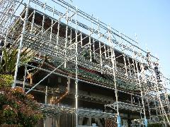 神奈川県大和市日本家屋大規模改修足場工事