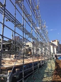 神奈川県厚木市新築足場施工
