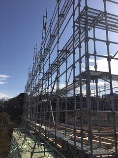 神奈川県横浜市戸塚区新築足場工事