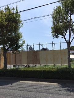 相模原市お祭りゲート 貼り出し看板の設置工事