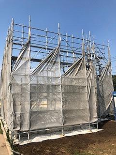 神奈川県横浜市戸建新築足場工事