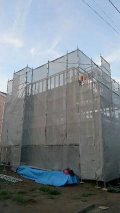 神奈川県横浜市戸建住宅新築足場工事