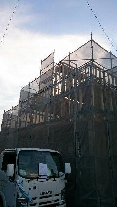 神奈川県厚木市新築戸建足場工事