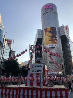 東京都渋谷区盆踊り会場ステージ足場