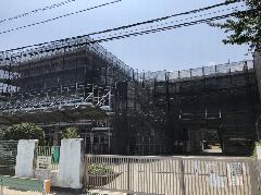 東京都八王子市小学校足場施工