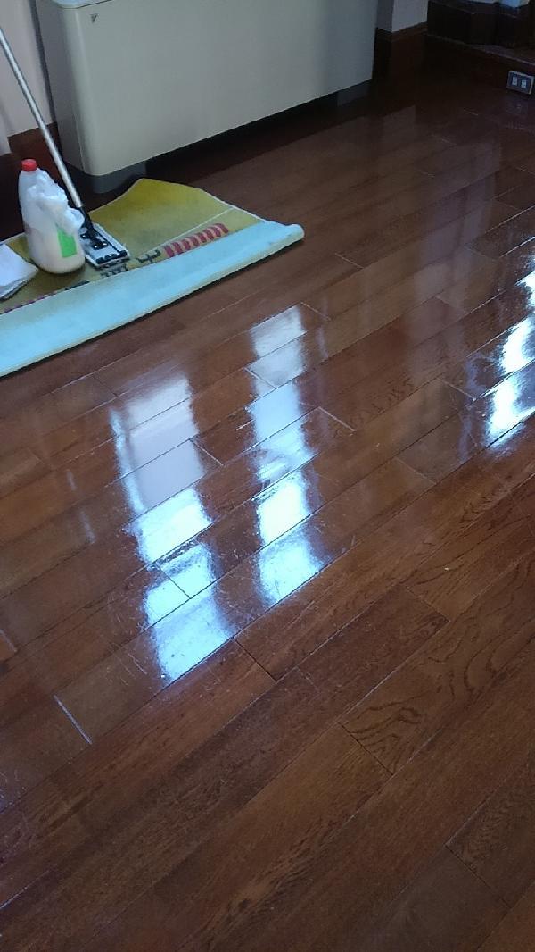 オフィスの木床剥離清掃