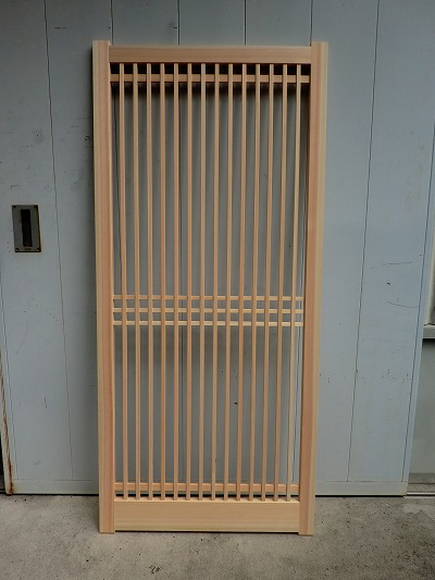 広島市 木製デザイン建具の製作工程