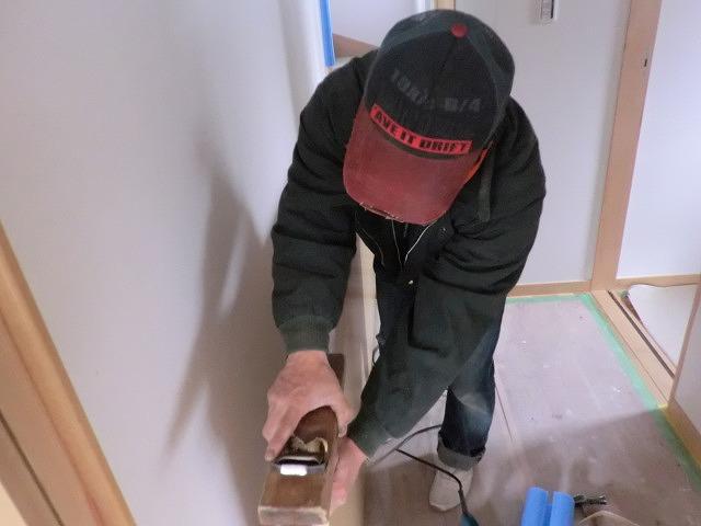 建具削り中です。