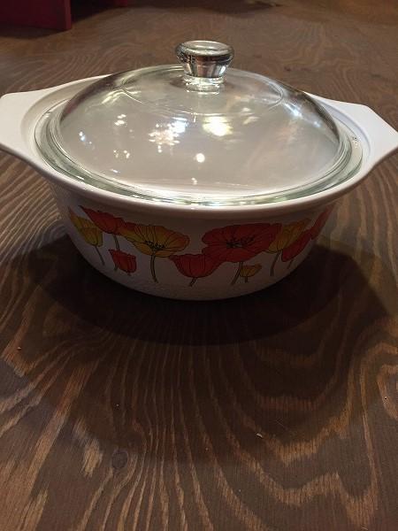 レトロ超耐熱ガラス食器鍋