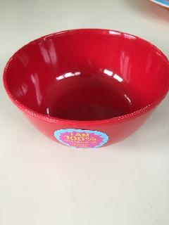 メラミン食器赤お椀小