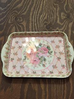 メラミン食器花柄バラピンク大