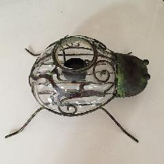 ビンテージ虫のキャンドルホルダー