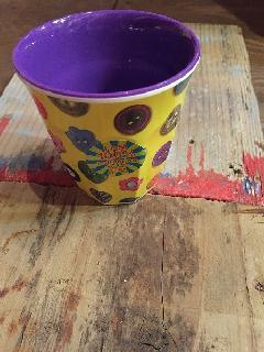 メラミン食器ボタン柄CUP小