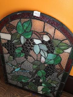 かわいいブドウと鳥のステンドグラス訳あり