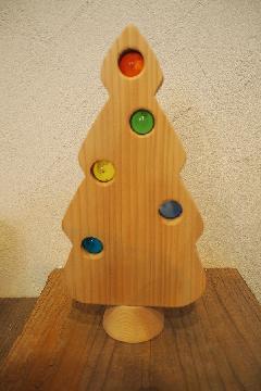 木のおもちゃクリスマスツリー大