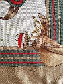 GUCCIデッドストックビンテージスカーフ