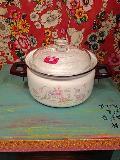 ホーロー鍋お花柄