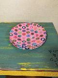 メラミン食器ボタン柄ピンク大
