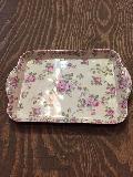 メラミン食器花柄バラピンク,紫、大
