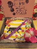 メラミン食器プレゼントBOXプレート、はしセット