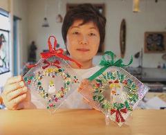 ガラス工芸「クリスマス リース体験講座」