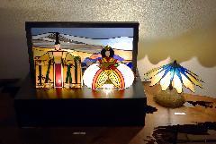 ステンドグラスのひな祭り展2014−1