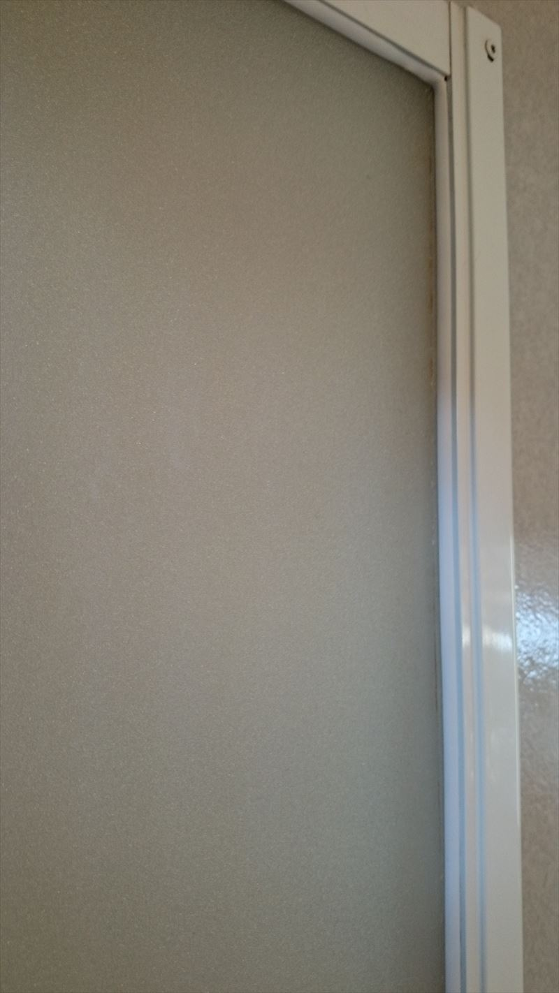 浴室ドアゴムパッキン交換