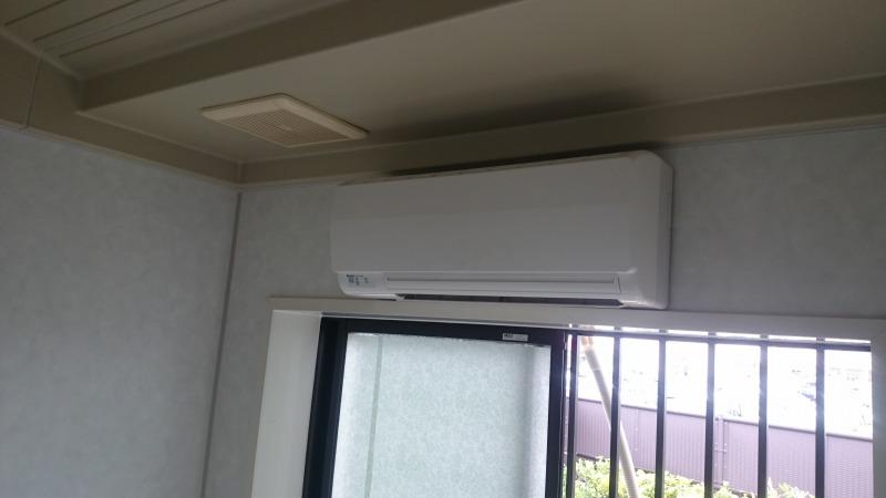 浴室暖房器の設置