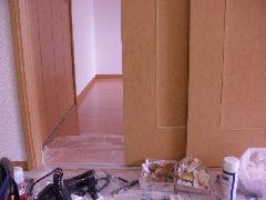 奈良市 建具表面陥没補修