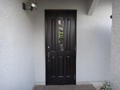 箕面市 玄関ドアの補修