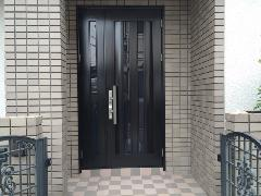 春日市 玄関ドア補修