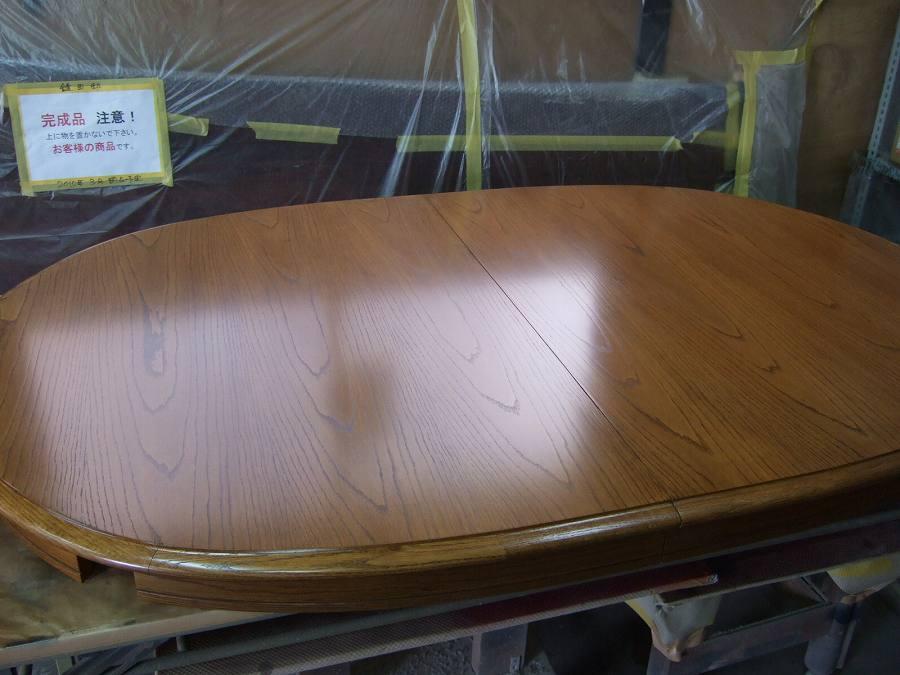 修理したテーブル