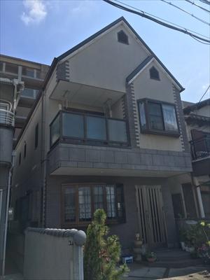 戸建住宅の塗替え施工前