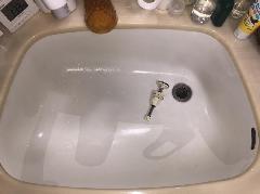 洗面台の排水管洗浄